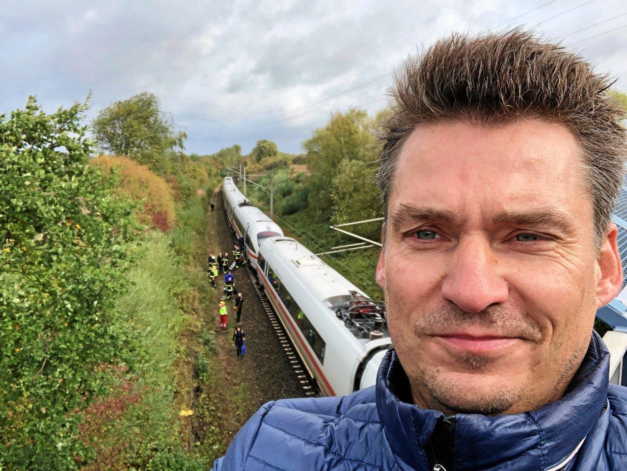 Hendrik Rasehorn von dem ICE, der Ende 2019 nahe Fallersleben-Sülfeld im Sturm einen umgestürzten Baum gerammt hatte.